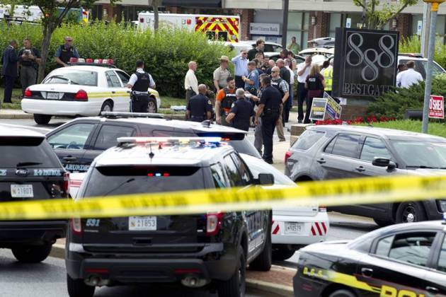 Five people dead in Maryland newsroom attack, suspect arrested