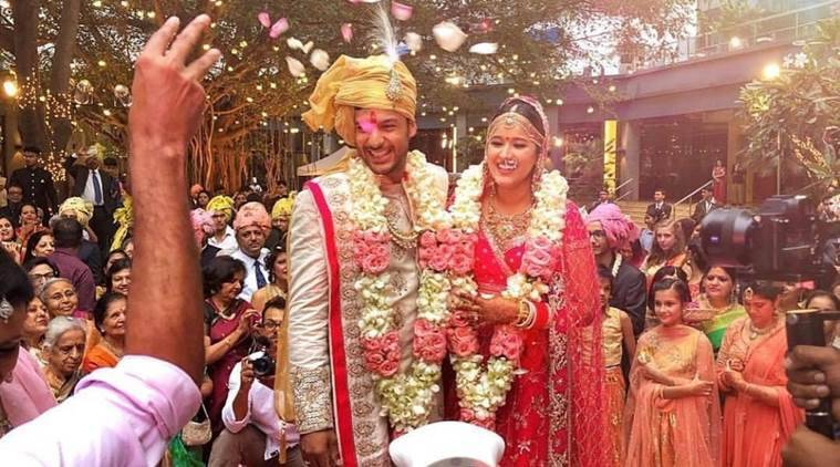 Mayank Agarwal, Mayank Agarwal wedding, Mayank Agarwal news, Mayank Agarwal Aashita Sood, sports news, cricket, Indian Express