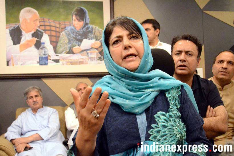 BJP severs ties with Mehbooba mufti led pdp