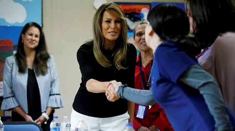 Melania makes second migrant children visit