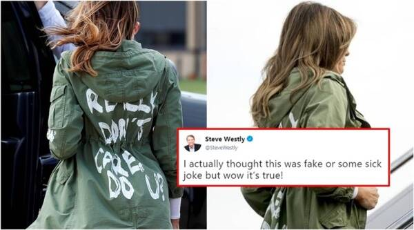 melania trump, melania trump jacket, melania trump jacket viral, melania trump i dont care jacket, melania trump jacket trneind,g melania trump illegal immigrantchildren jacket, melania trump children jacket viral, melania trump zara jacket viral, Indian express, Indian express news