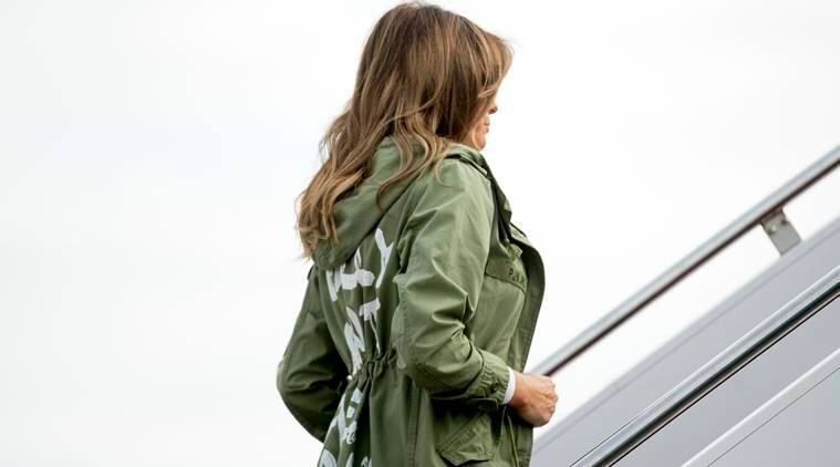 melania trump, melania trump jacket, us immigration policy, 'I really don't care, do u?, plagiarism us child seperation, zero tolerance policy, donald trump, trump zara jacket, indian express, indian express news
