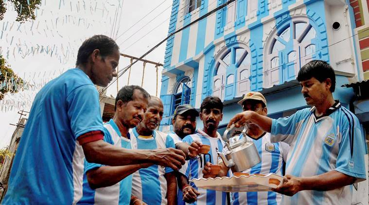 Argentina fans in Kolkata ahead of the World Cup