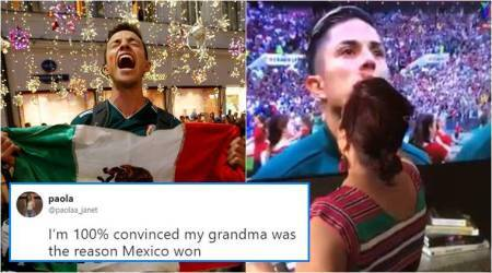 Netizens think this 'Grandma' helped Mexico beat Germany in the World Cup