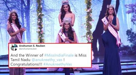 Anukreethy Vas from Tamil Nadu crowned Miss India 2018; Twitter buzzes with praises