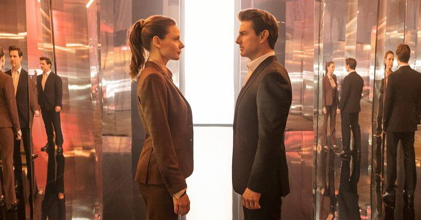 Rebecca Ferguson and tom cruise in mission impossible fallout