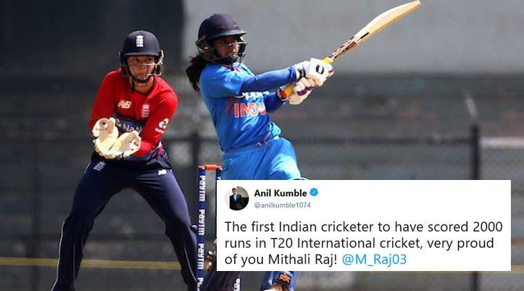 Mithali Raj becomes first Indian to score 2000 T20I runs
