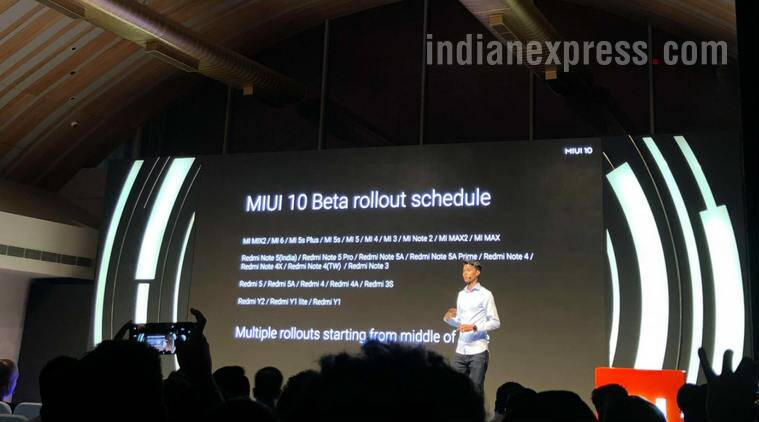 Xiaomi will roll out MIUI 10 global beta version to the Redmi Note 5 series and the newly launched Redmi Y2 as well