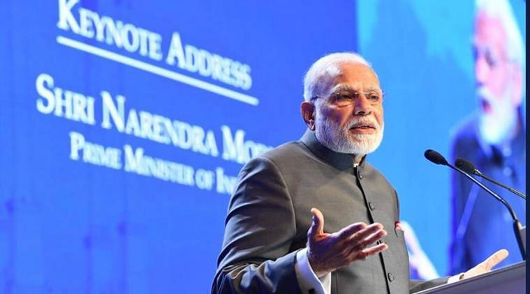 PM Modi during his speech at the Shangri-La Dialogue in Singapore