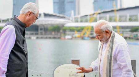 PM Modi unveils Gandhi's plaque in Singapore, says 'Bapu's message reverberates globally'