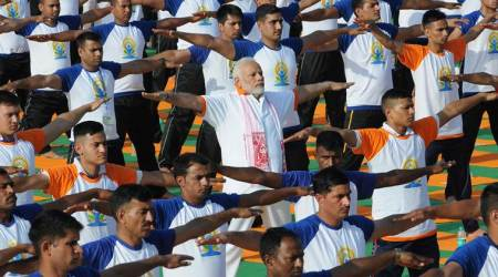 International Yoga Day 2018: PM Modi calls yoga a 'unifying force,' Nitish Kumar skips event