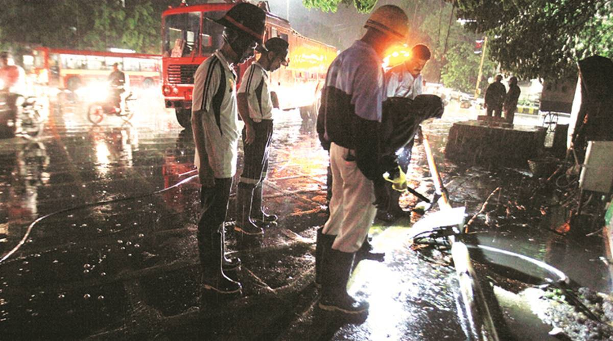 fire station officers suspended, private hospital, Panchkula news, Haryana news, Indian express news