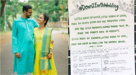 #Down2EarthWedding: This Mumbai couple held an 'eco-friendly' wedding ceremony using recycled products