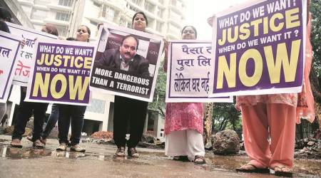 Mumbai: Home buyers protest against Mehul Choksi for failure to hand over flats