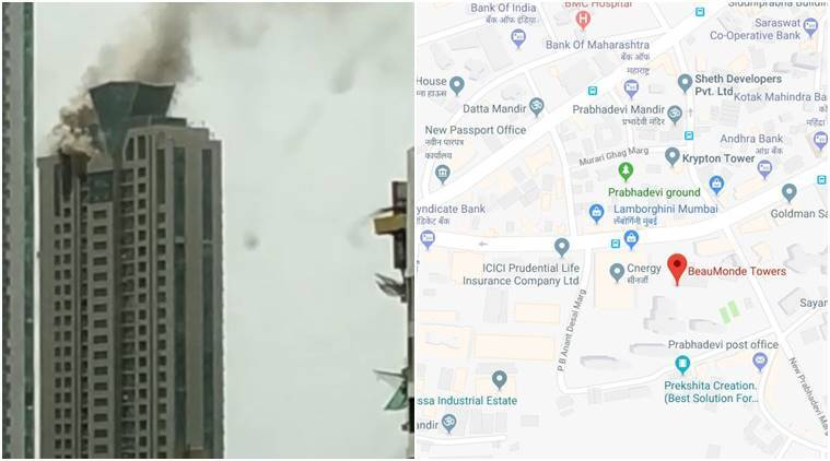 Fire breaks out in Mumbai's Beaumonde Towers | MUMBAI NYOOOZ