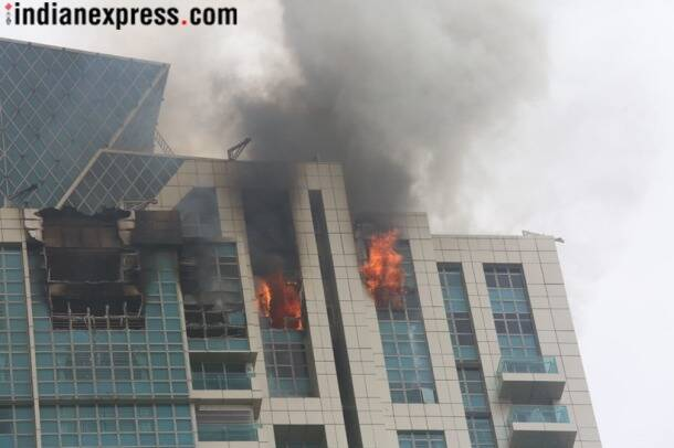 Fire breaks out at Beaumonde Towers in Mumbai's Worli area