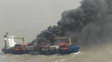 Major fire on Indian flag vessel, rescue operation underway
