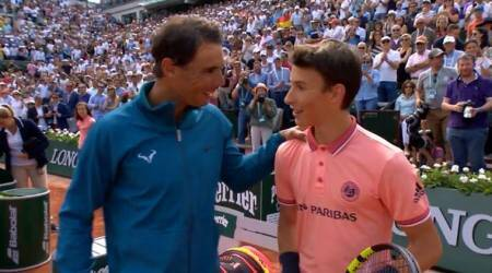 Rafa Nadal rallies with ball boy after Richard Gasquet win at Roland Garros; watch video