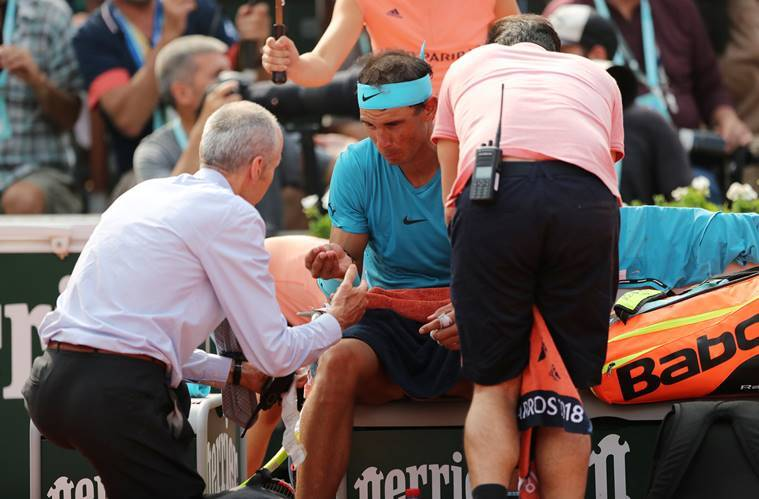 Rafael nadal in the final of the French Open