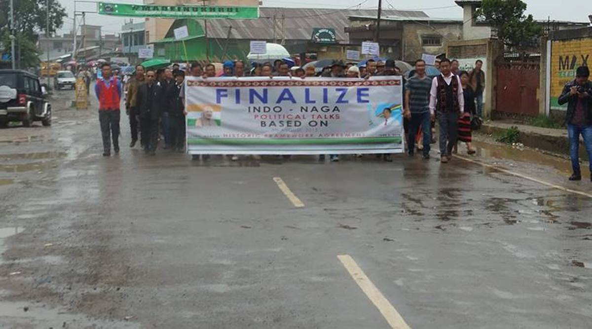 A peace rally was jointly organised by several Tangkhul civil society organisations under the aegis of United Naga Council early this month. (Express photo)