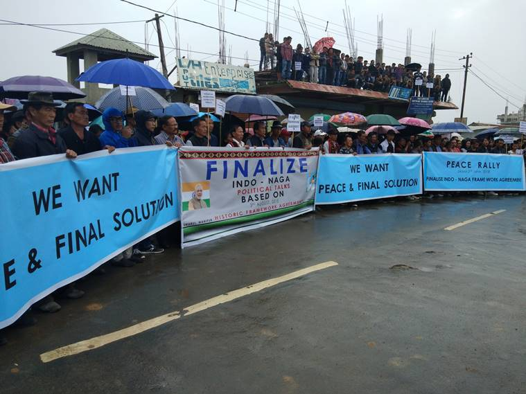 Nagas organizes peace rally for early solution of Indo-Naga peace talks