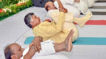 yoga day, yoga day 2018, international yoga day, AP CM N Chandrababu Naidu
