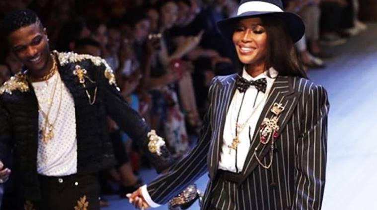 Naomi Campbell Dolce and Gabbana, Naomi Campbell latest photos, Naomi Campbell fashion, Naomi Campbell gangster walk, Naomi Campbell Dolce and Gabbana 2019 spring summer collection, indian express, indian express news