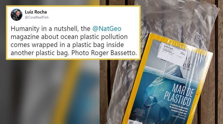 nat geo, nat geo cover,nat geo cover plastic, nat geo ice berg cover, indian express, indian express news
