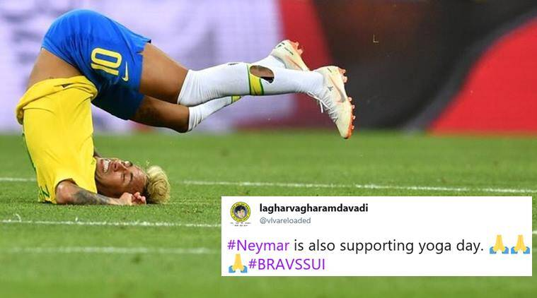 brazil, neymar, brazil vs switzerand, fifa world cup, football world cup 2018, brzsui, football news, fifa world cup news, viral news, indian express