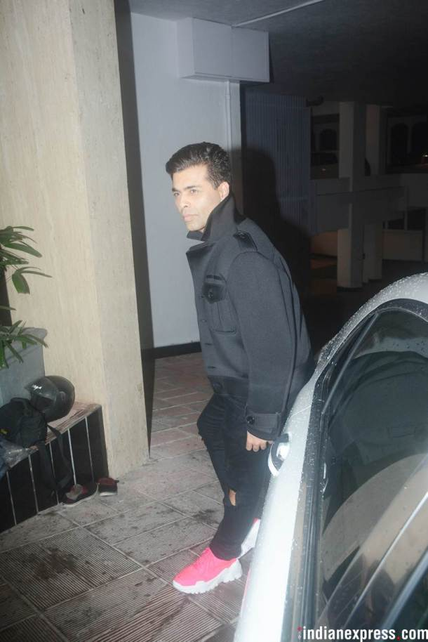 karan johar at manish malhotra house