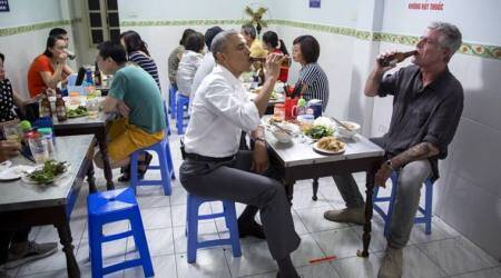 Barack Obama, anthony bourdain, obama bourdain tribute, obama bourdain vietnam dinner, obama bourdain meal, viral news, indian express, trending news