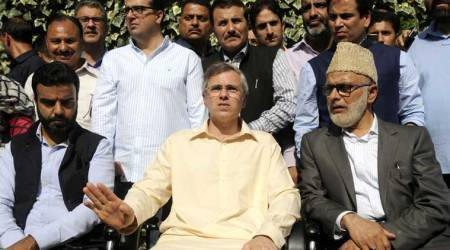 Omar Abdullah for early polls, Rahul Gandhi says BJP-PDP set fire to J&K