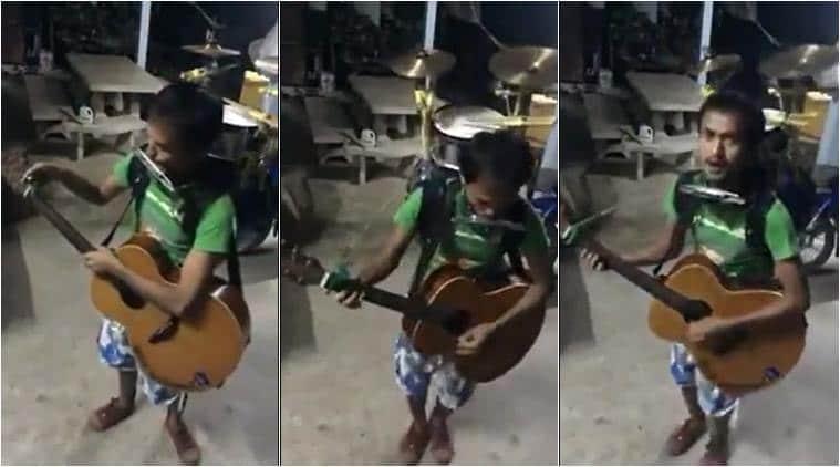 one man band, one man music band, one man many instruments, farhan akhtar, anand mahindra, viral videos, indian express