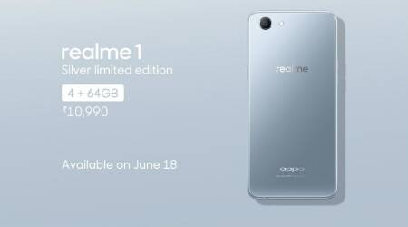 Oppo RealMe 1 Silver limited edition launched, sale to begin from June 18