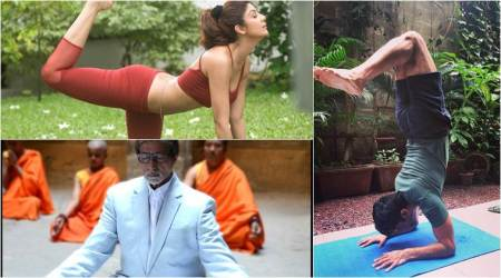 International Yoga Day 2018: Amitabh Bachchan to Shilpa Shetty, Bollywood celebs show off yoga poses