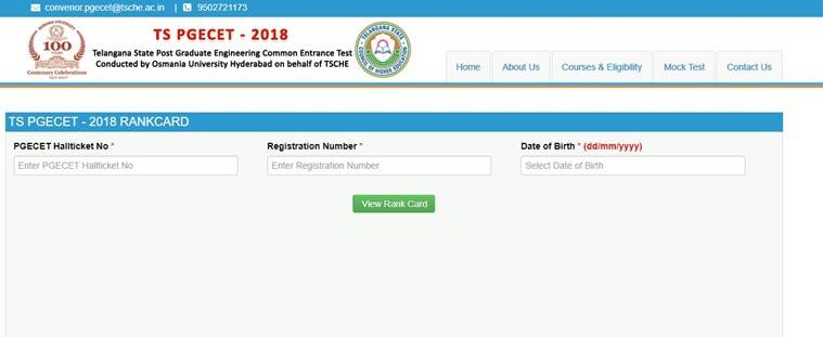 manabadi, pgecet.tsche.ac.in, pgecet, pgecet result 2018, pgecet 2018 rank card