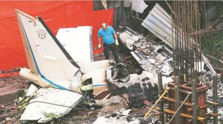 Mumbai plane crash: Residents pour in to take a look at accidentsite