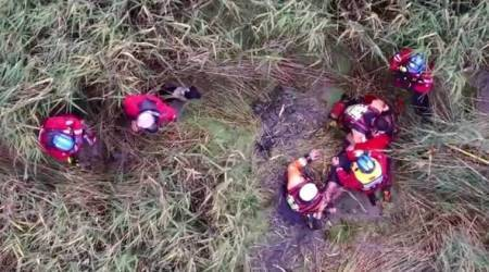 Police drone locates 75-year-old man stuck in marshes for almost 24 hours