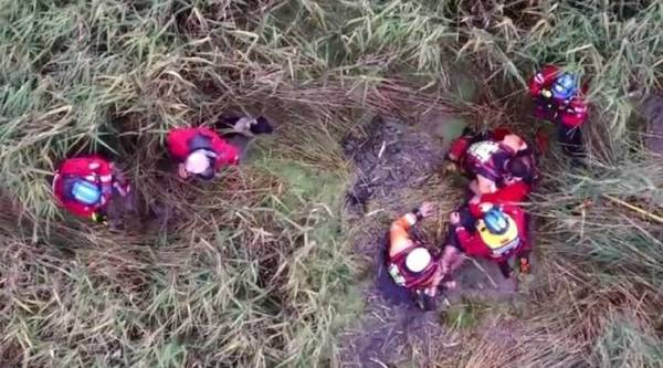 Peter Pugh, Publishing company owner Peter Pugh, police drone camera, viral video, police drone, 75-year-old man rescued stuck in marshes, indian express