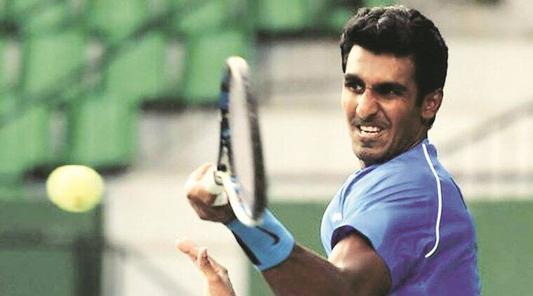 Prajnesh Gunnewaran, Prajnesh Gunnewaran India, India Prajnesh Gunnewaran, Prajnesh Gunnewaran news, Prajnesh Gunnewaran vs Denis Shapovalov, sports news, tennis, Indian Express