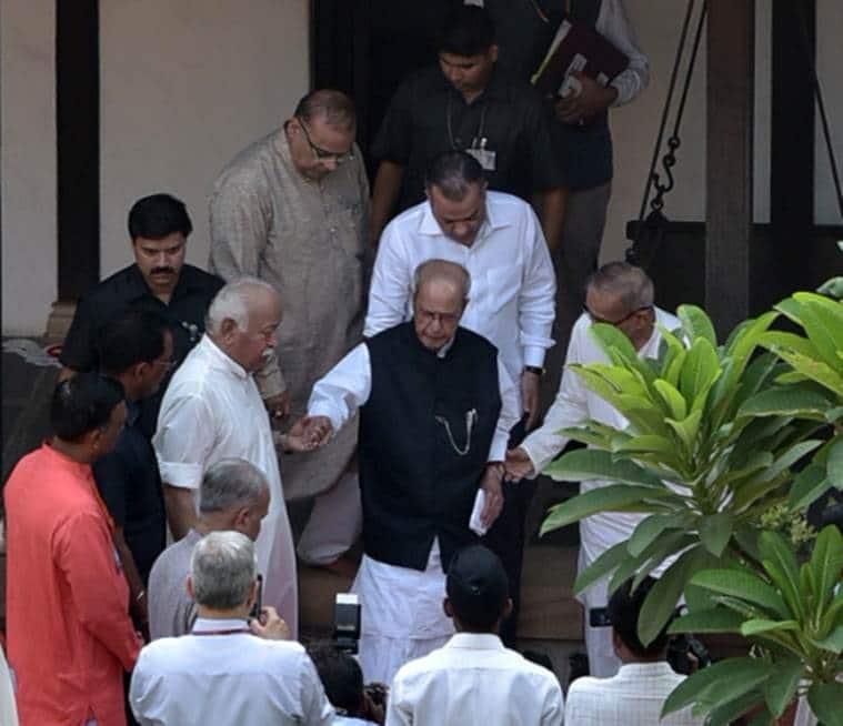 pranab mukherjee, pranab mukherjee speech, mohan bhagwat, pranab mukherjee RSS event, rss event in nagpur, pranab mukherjee nagpur event, indian express