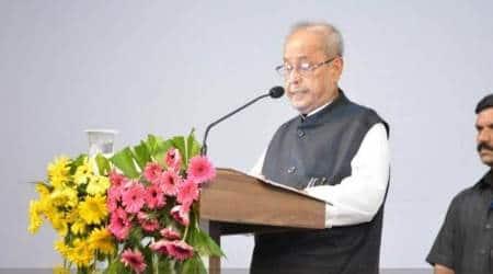 Former President Pranab Mukherjee at the RSS headquarters in Nagpur on Thursday. (Twitter/@RSSorg)
