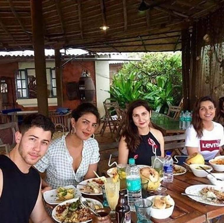 priyanka chopra and nick jonas in goa