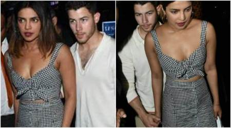 Priyanka Chopra and Nick Jonas hold hands as they step out for a dinner date