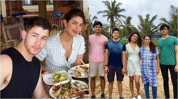 priyanka chopra, nick jonas and parineeti chopra are in goa
