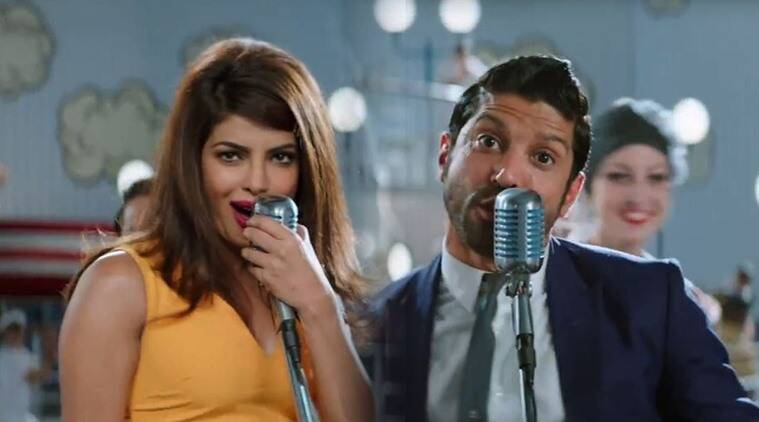 priyanka chopra with farhan akhtar in shonali bose film