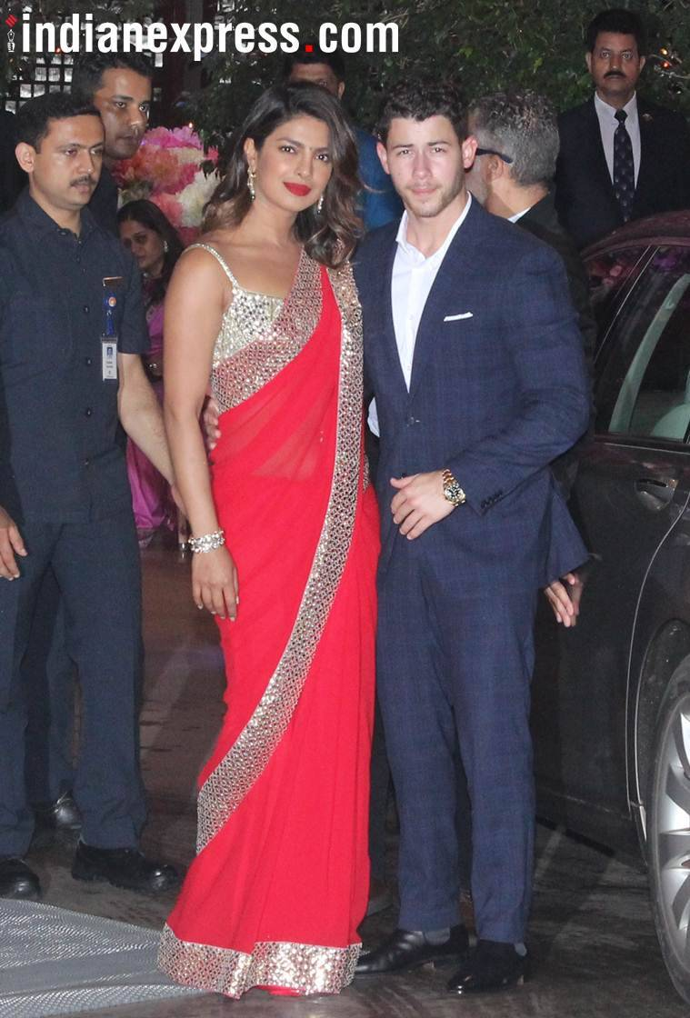 priyanka chopra and nick jonas at ambani's party
