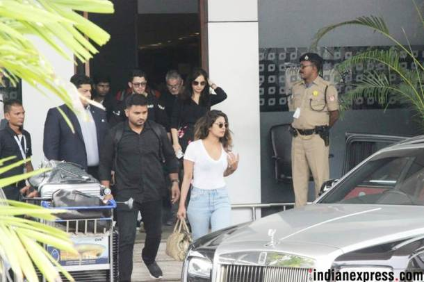 priyanka chopra and nick jonas back from goa