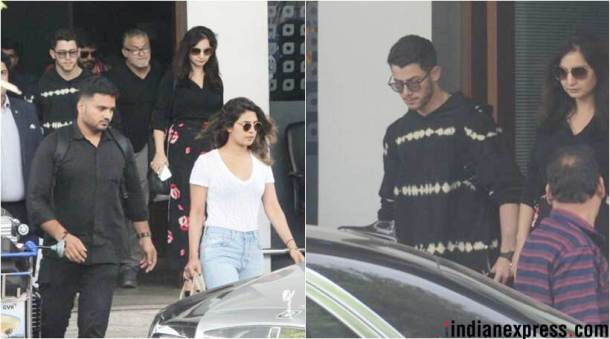 priyanka chopra and nick jonas in mumbai