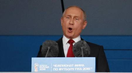 FIFA World Cup 2018: Defiant Vladimir Putin welcomes World Cup as Russia win